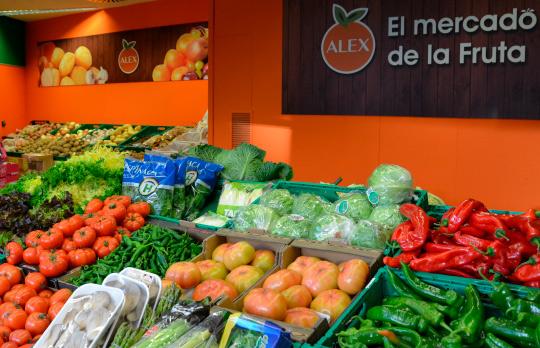 interior de frutería en León