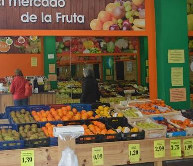 tienda de fruta en león