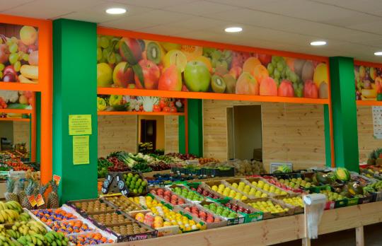 tiendas del mercado de la fruta León