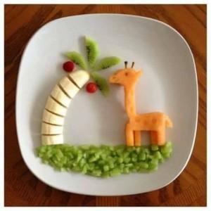 jirafa fruta