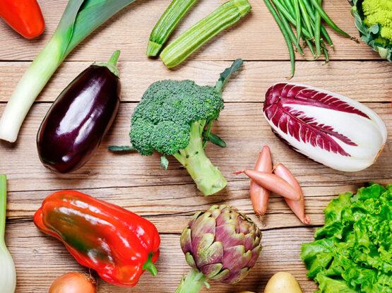 Verduras temporada en Marzo