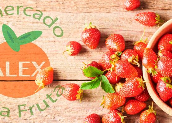 Fresas en El Mercado de la Fruta