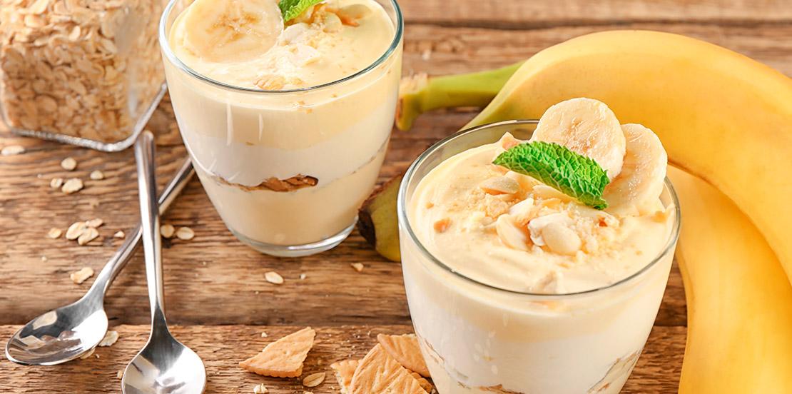 Batido de plátano con avena